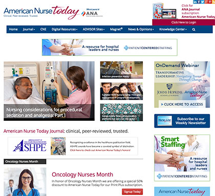 American Nurse Association web development and marketing services