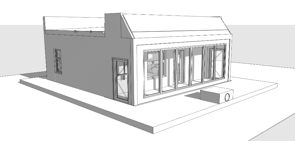 Off-Grid Earthship style Accessory Dwelling Unit (ADU) Studio.