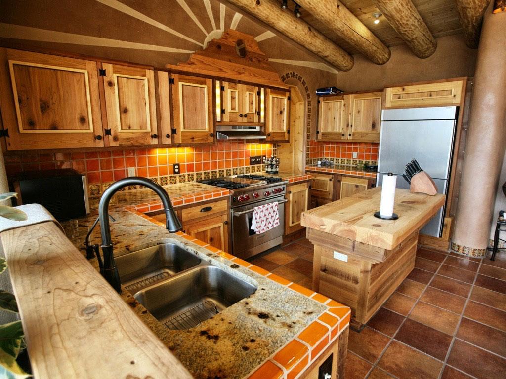 Montana earthship kitchen